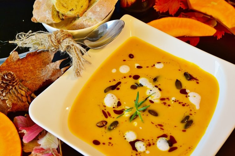 A classic pumpkin soup is just what you need on an autumn day