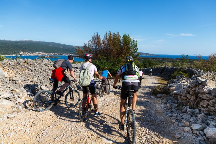 Most of the walking trails on the island of Krk can also be used for cycling