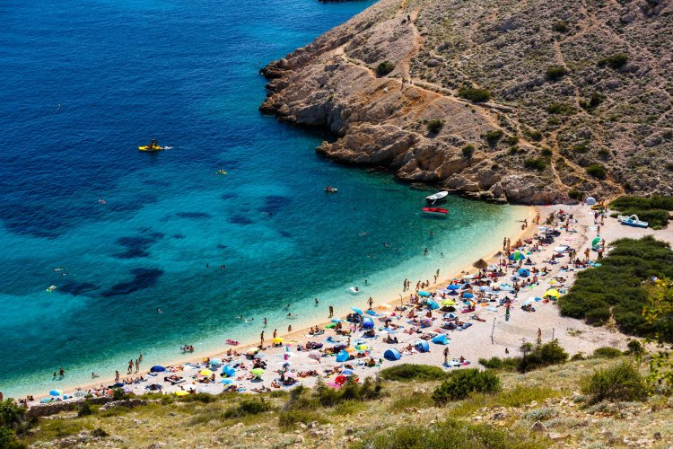 Krk island is widely known for a great number of beaches