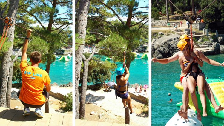 Perfect for adventure lovers - Zip Line above Dražica cove, Krk town