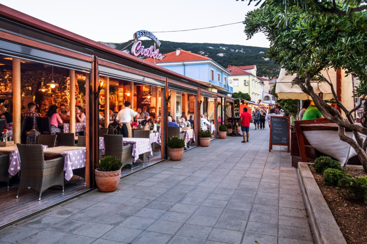 Cicibela restaurant in Baška, Krk island - photo source: http://www.cicibela.hr