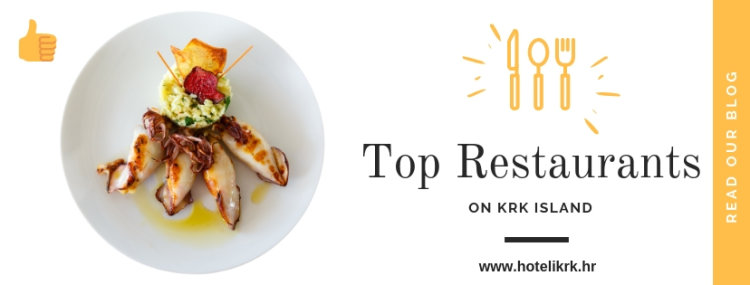 Blog entry about top restaurants on Krk island