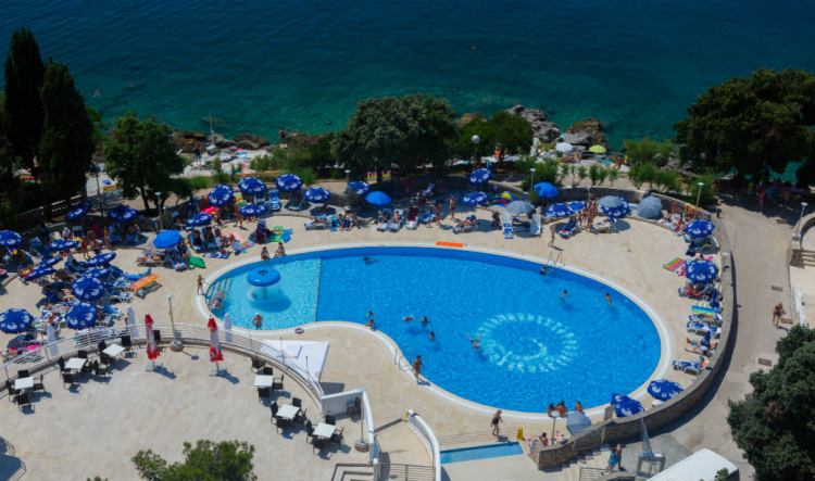 Outdoor swimming pool at Dražica Hotel Resort