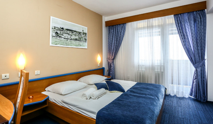 Beautiful bedroom in Dražica hotel in Krk