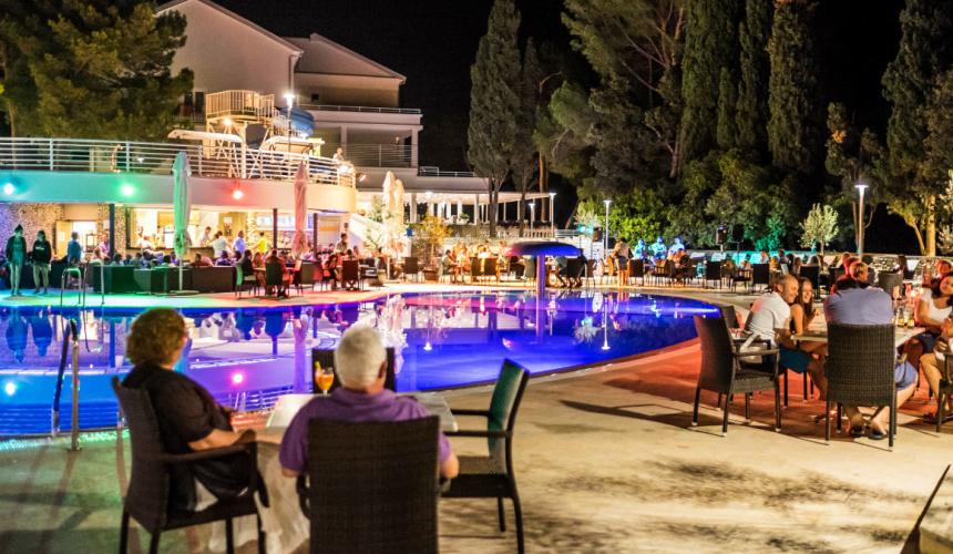 Enjoying a nice evening at Dražica hotel in Krk