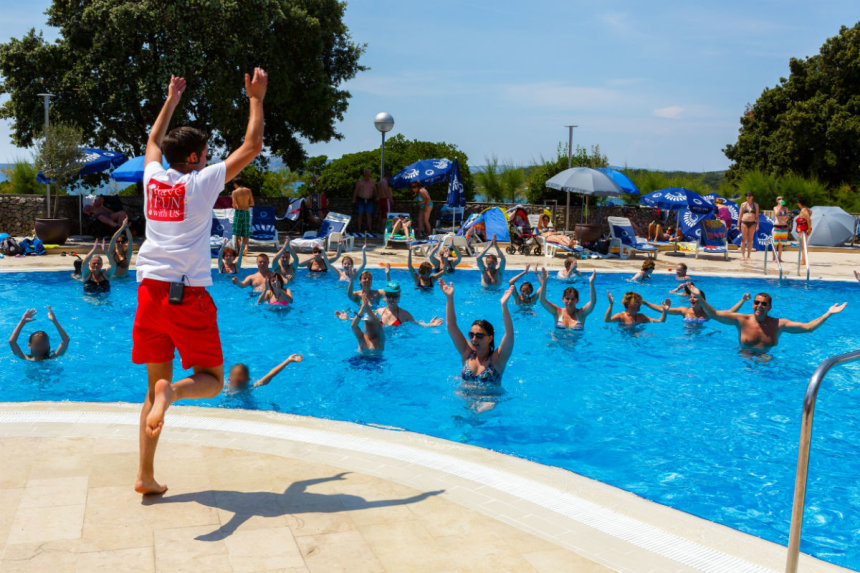 Krk Sport - a workout in the pool at the Dražica Hotel
