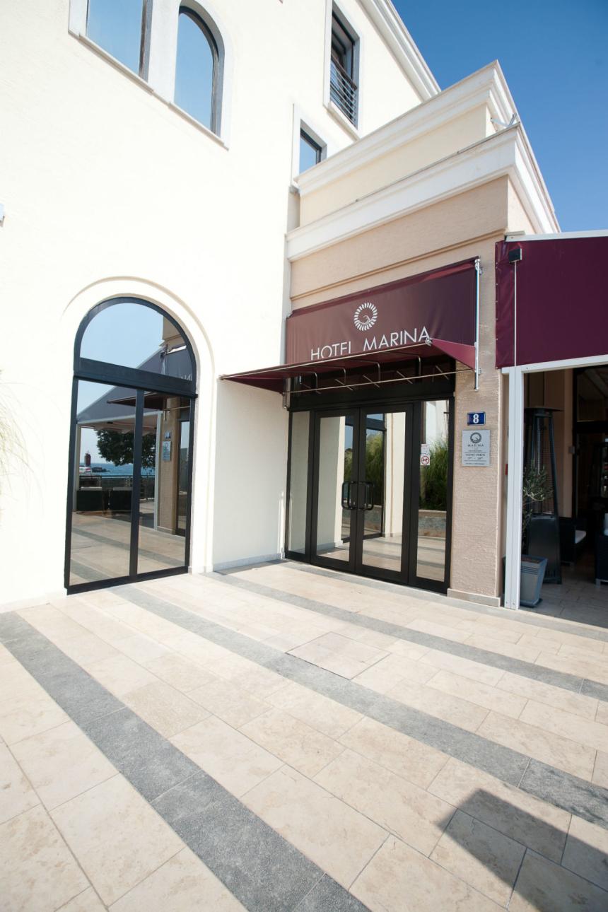 Entrance of Marina boutique hotel in Krk