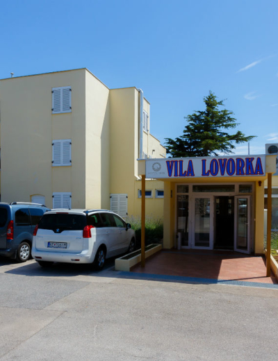 Entrance of Lovorka villa in Krk town