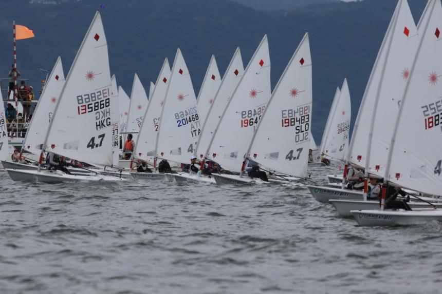 Sailing boats in Krk town - Plav sailing club