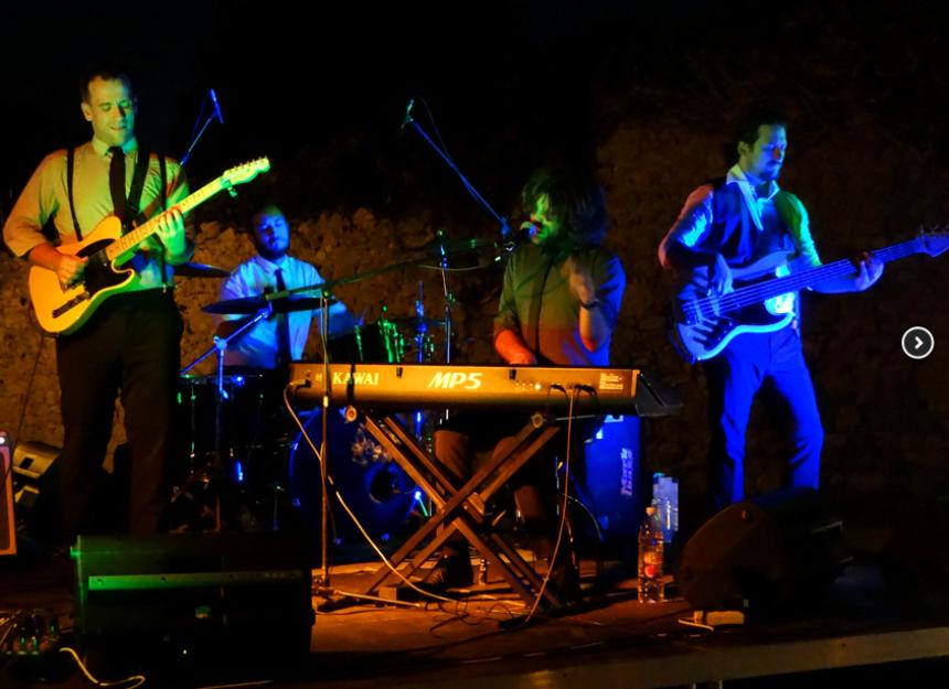 Live concert during Tramonto in Krk town in summer