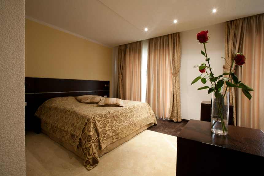 Beautifully decorated hotel room in Krk town