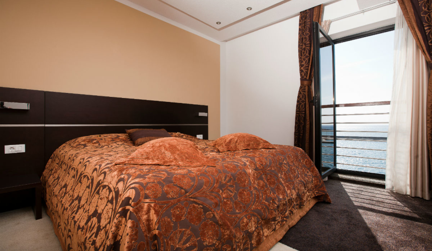 Stylish hotel room in Marina boutique hotel in Krk
