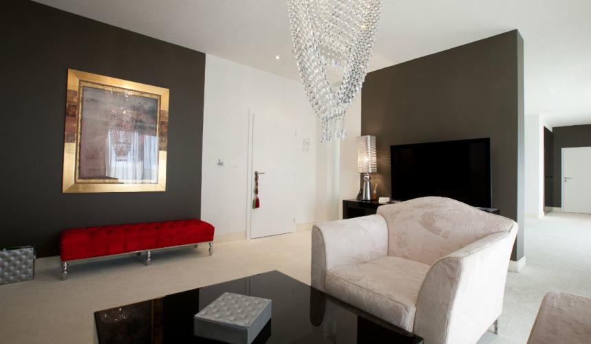 Elegant details in a room in Marina boutique hotel in Krk