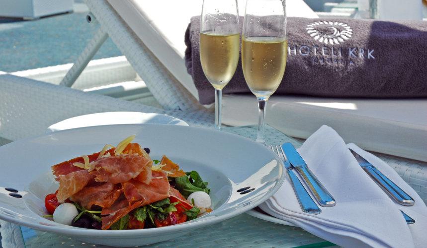 Premium food and drinks in Valomet VIP Lounge Zone in Krk